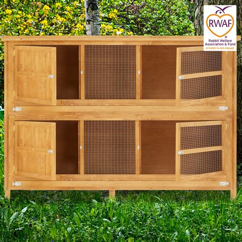 6ft rabbit hutches home roost 6ft chartwell 2 tier rabbit hutch for