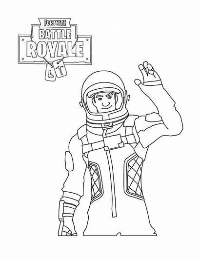 Fortnite Coloring Pages Royale Battle Printable Astronaut