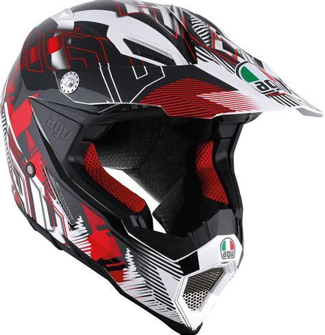 agv motocross helmets agv ax 8 evo nofoot motocross helmet white red agv k4