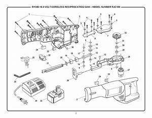 Rjc180 Ryobi Reciprocating Saw Parts  Ryobi Power Tool Parts