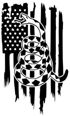 Dont tread on me - Gadsden flag - window decal - SVG, .EPS, .AI, .dxf | Dont tread on me