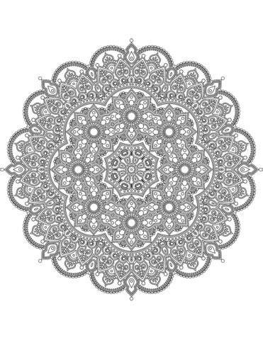 difficult mandala coloring page  printable coloring