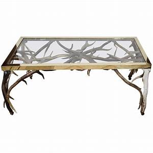 Antler coffee table at 1stdibs for Antler coffee table