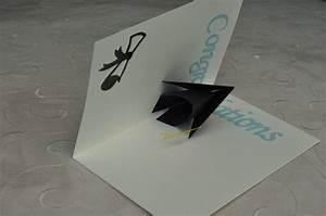 3d graduation cap pop up card template creative pop up cards With graduation pop up card template