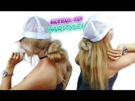 super easy hairstyles quick and easy buns for baseball cap