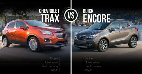 Buick Encore Size Comparison by Chevrolet Trax Vs Buick Encore Stubby Suv Skirmish