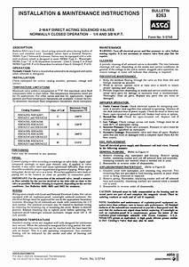 Asco Series 263s Solenoid Valves Hot Water Steam