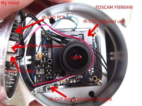 foscam fiw ip camera ir light modification detect