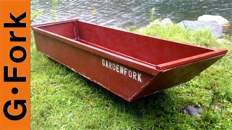 one sheet plywood boat gardenfork youtube