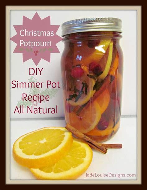 Natural Christmas Potpourri Simmer Pot Recipe Homemade