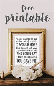 Gorgeous modern free inspirational quote printables