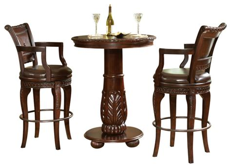 pub table and two chairs steve silver furniture steve silver antoinette 3 piece
