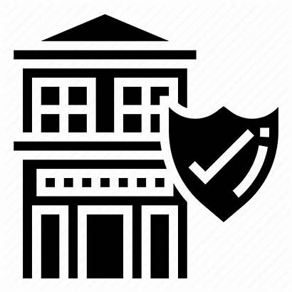 Insurance Company Icon Building Protect Architecture Icons
