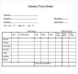 timesheet schedule sample weekly timesheet template 9 free documents