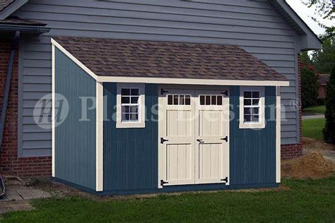 lean  shed  wwwplansdcom lean  storage