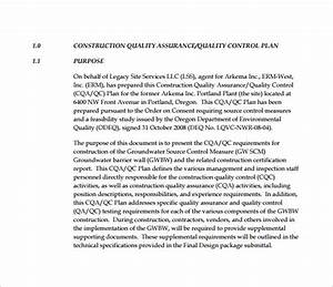 quality control plan template 7 free word pdf With quality control policy template