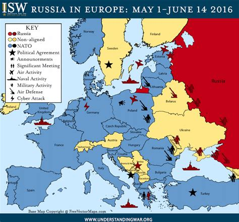 map shows mounting tensions  nato  russia
