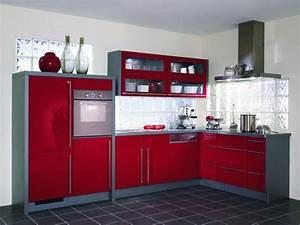 Cuisine rouge et grise 35 photos la cuisine tendance et for Deco cuisine avec chaise grise moderne
