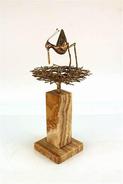 Sculpture Modern Mid Century Jere Curtis Bird