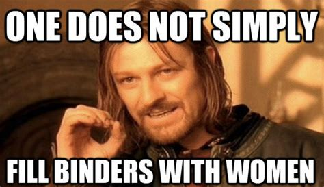 Going viral: Binders full of women posters
