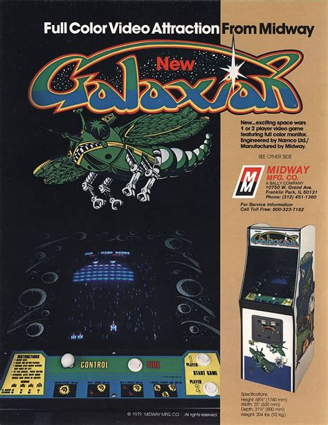 The Arcade Flyer Archive Video Game Flyers Galaxian