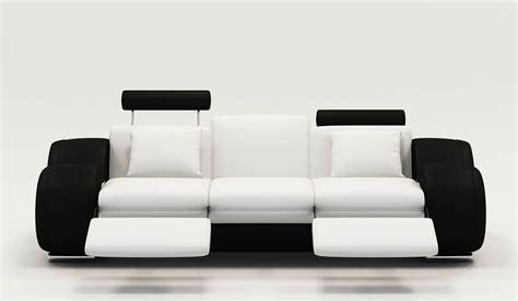 canape cuir blanc relax canape cuir relax noir et blanc canapé idées de