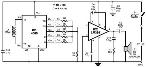 Multitone Siren Alarm Circuit Scheme