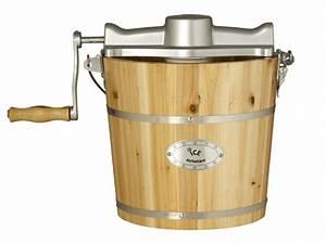 Sorbetière électrique GIVRETO en bois de pin 3 5 L ou 5 5 L