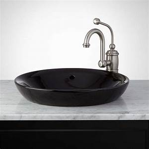 Bathroom  Amusing Best Semi Recessed Vessel Sink With