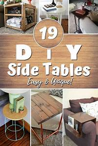 19, Easy, U0026, Unique, Diy, Side, Table, Ideas, You, Can, Build, On, A, Budget