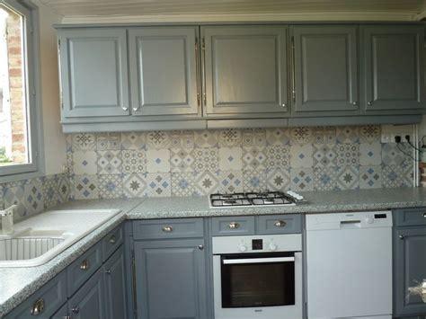carreaux de cuisine du patchwork dans la cuisine crédence imitation carreaux
