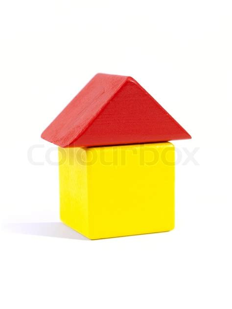 house made of blocks a toy house made from building blocks stock photo colourbox