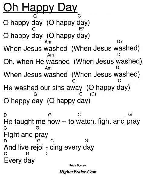 happy day chords  unlisted  higherpraisecom