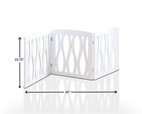 wooden pet gate foldable  freestanding  indoor
