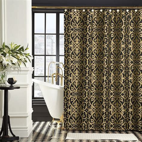 black and gold curtains black gold shower curtain black gold