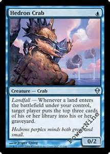 4 hedron crab zendikar mtg magic blue uncommon 4x x4 ebay