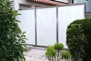 Trennwände Garten Edelstahl : sichtschutz aus edelstahl oder milchglas windschutz ~ Sanjose-hotels-ca.com Haus und Dekorationen