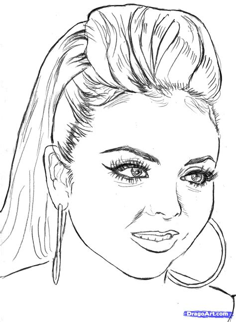 Free Coloring Pages Of Jesy Little Mix Drawing