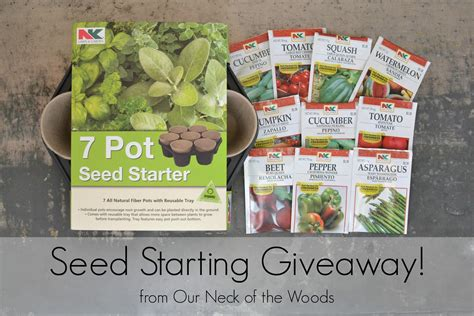 Seed Starting Giveaway