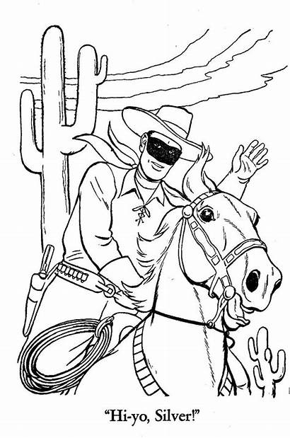 Coloring Ranger Lone Pages Sheets Tonto Western
