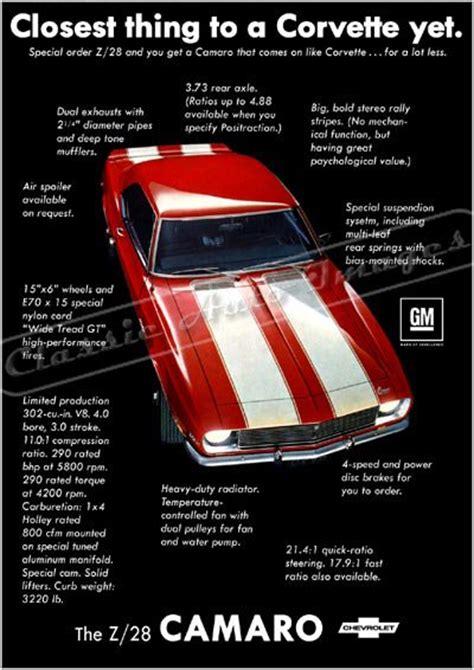 camaro  ad digitized  mastered poster print