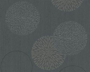 Floral Burst Wallpaper, - Contemporary - Wallpaper - by