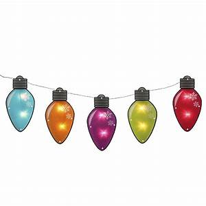 7, 25, U0026, 39, Multi-color, Shimmering, C7, Bulb, Christmas, Light, Garland, With, 10, Clear, Mini, Lights