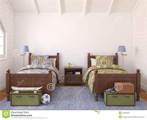 chambre pour deux enfants chambre à coucher pour deux enfants illustration stock