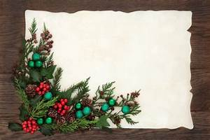 Blank Christmas Invitation Background Old Fashioned Christmas Border Stock Photo Marilyna