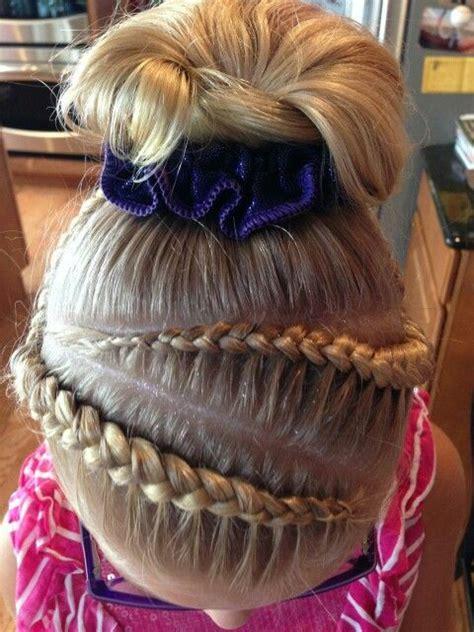 gymnastics hair braids cute girls hair hair