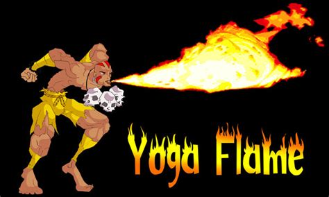 Dhalsim Doing Yoga Flame Fire By Colombianit0 On Deviantart