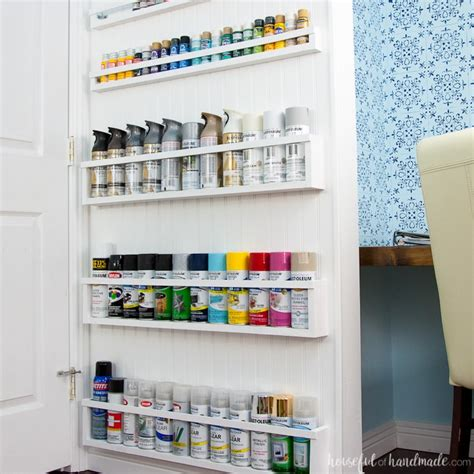 diy paint storage shelves office craft room makeover