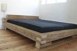 U Balken Holz : bett aus handgehackten altholz balken balken bolen u kisten ideen pinterest altholz bett ~ Markanthonyermac.com Haus und Dekorationen