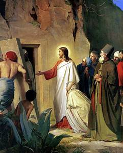 The Raising Of Lazarus Painting by Carl Bloch
